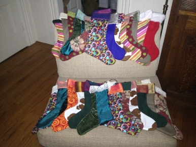 Christmas Stockings of multi-color