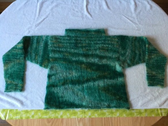 Blocking sweater